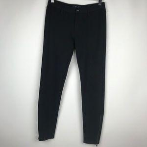 Madewell Skinny Skinny Ponte Pant Black Ankle Zip